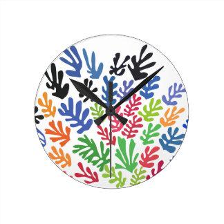 La Gerbe by Matisse Round Clock