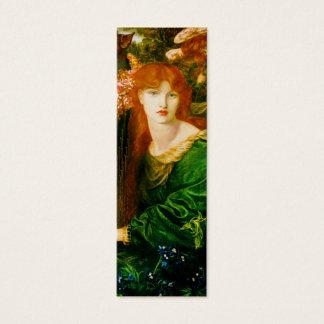 La Ghirlandata Bookmark by Dante Gabriel Rossetti Mini Business Card