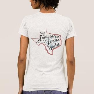 LA Girl in a TX World T-Shirt