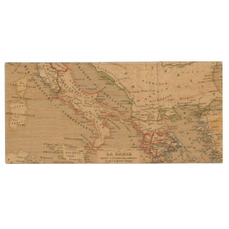 La Grece, l'Italie, 1190 a 504 av JC Wood USB 2.0 Flash Drive