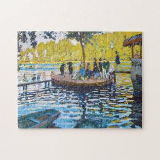 La Grenouillere Claude Monet fine art painting Jigsaw Puzzle