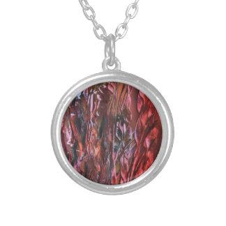 La hierba ardiente silver plated necklace