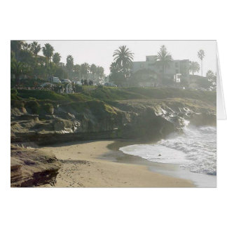 La Jolla Cove Ocean Waves Sand Wedding Cliff Card