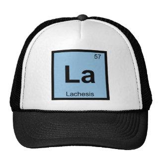 La - Lachesis Fates Chemistry Periodic Table Cap