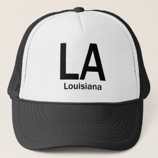 LA Louisiana  plain black Trucker Hat