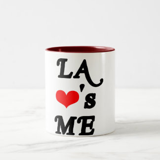 LA Loves me - Los angeles Two-Tone Coffee Mug