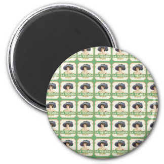 La Meloda Cigar Label 6 Cm Round Magnet