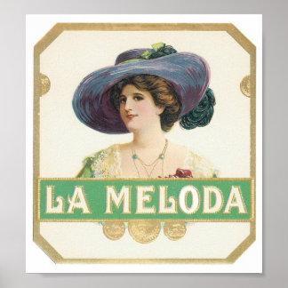 La Meloda Label Poster