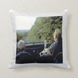 La Monde - A Drive in Wales Pillow