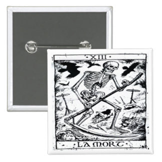 La Mort Tarot Card 15 Cm Square Badge