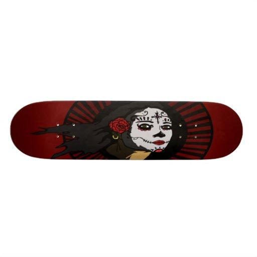 """""""La Muerta"""" on RED Board Skate Decks"""