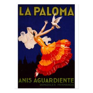 La Paloma Vintage Liquor Ad Postcard