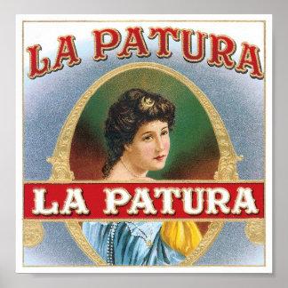 La Patura Label Poster