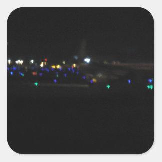 La Paz en la noche Square Stickers