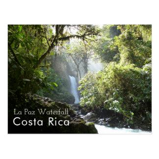 La Paz Waterfall, Vara Blanca, Costa Rica Postcard