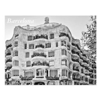 La Pedrera in Barcelona Postcard