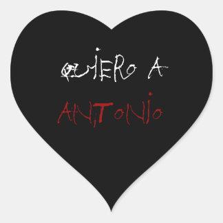 la pegatina de antonio heart sticker