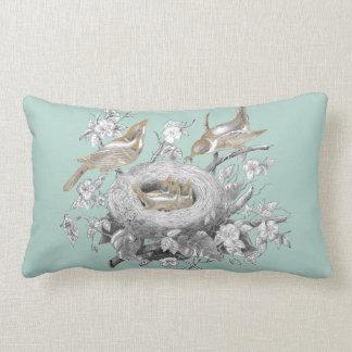 La petite famille on a Marie Antoinette Blue Lumbar Cushion