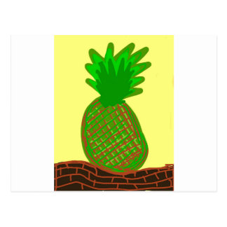 la pina lola pinapple postcard