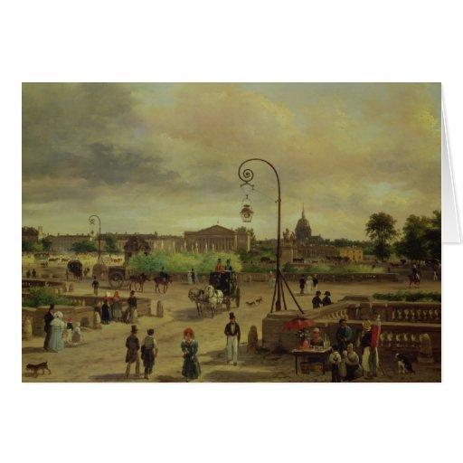 La Place de la Concorde in 1829 Greeting Cards