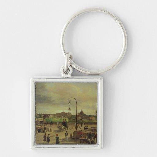 La Place de la Concorde in 1829 Keychains