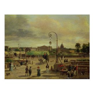 La Place de la Concorde in 1829 Postcard