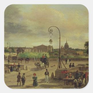 La Place de la Concorde in 1829 Stickers