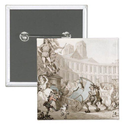 La Place des Victoires, Paris, c.1789 (pen and ink Pin