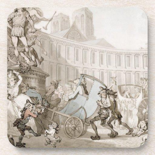 La Place des Victoires, Paris, c.1789 (pen and ink Coasters