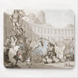 La Place des Victoires, Paris, c.1789 (pen and ink Mouse Pad