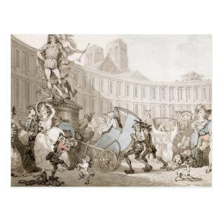 La Place des Victoires, Paris, c.1789 (pen and ink Postcard