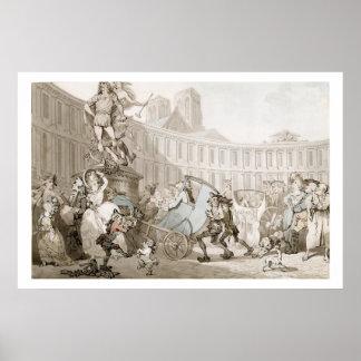 La Place des Victoires, Paris, c.1789 (pen and ink Poster