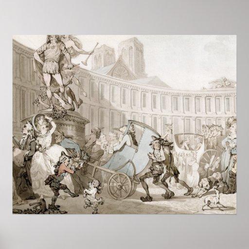 La Place des Victoires, Paris, c.1789 (pen and ink Print