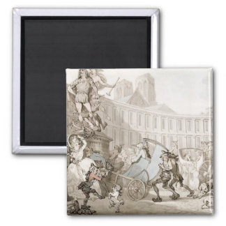 La Place des Victoires, Paris, c.1789 (pen and ink Square Magnet