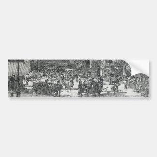 La Place Saint-Médard Paris by Gustave Fraipont Bumper Sticker
