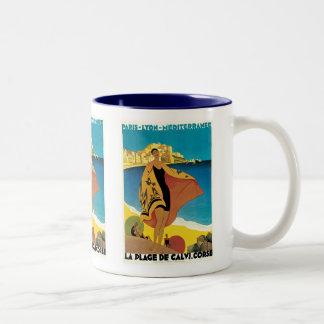 La Plage de Calvi, Corse Coffee Mugs