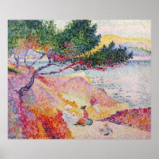 La Plage de Saint-Clair, 1906-07 Poster
