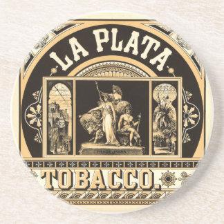 La Plata Tobacco Company - Cigarette Advertising T Sandstone Coaster