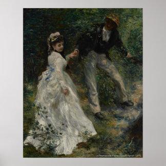 La Promenade, Pierre-August Renoir 1870 Poster