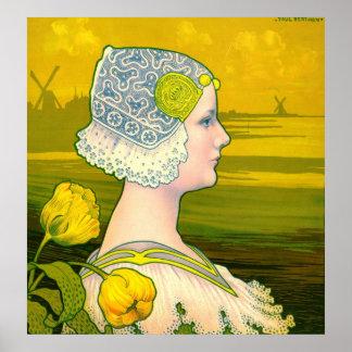 La Reine Wilhelmina 1901 Poster