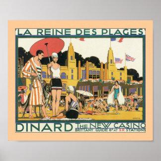 La Reines Des Plages (border) Poster
