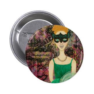 La Reve de la Masquerade 6 Cm Round Badge