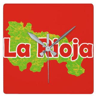 La Rioja Square Wall Clock