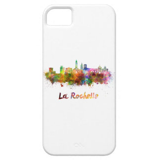 La Rochelle skyline in watercolor Barely There iPhone 5 Case