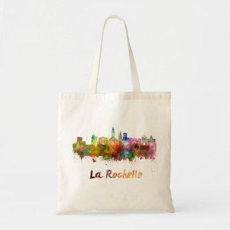 La Rochelle skyline in watercolor Tote Bag