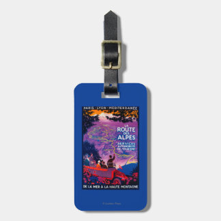 La Route Des Alpes Vintage PosterEurope Luggage Tag