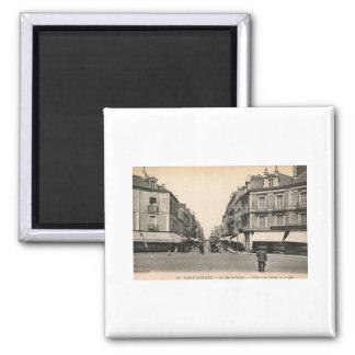 La Rue de Nantes, Saint Nazaire, France Vintage Square Magnet
