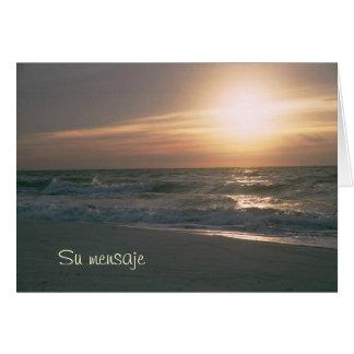 La Salida del Sol en Pensacola Beach Card