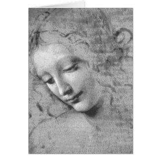 La Scapigliata by Leonardo da Vinci Card