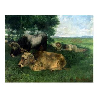 La Siesta Pendant la saison des foins , 1867, Postcard
